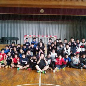 ハンドボール1日練習試合(2018/2/11)– 稲沢西中学校 –